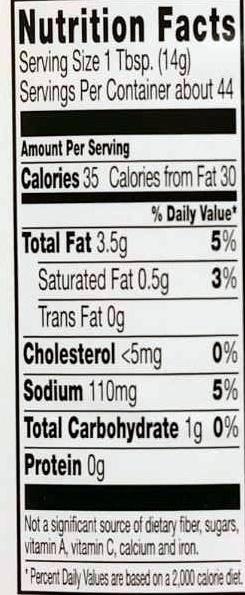 Light mayonnaise - Voedingswaarden - en