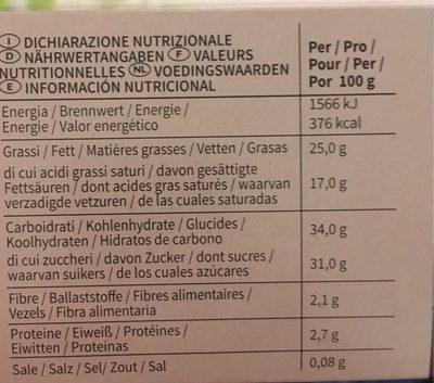 Batonnets double tentation chocolat - Informations nutritionnelles - fr