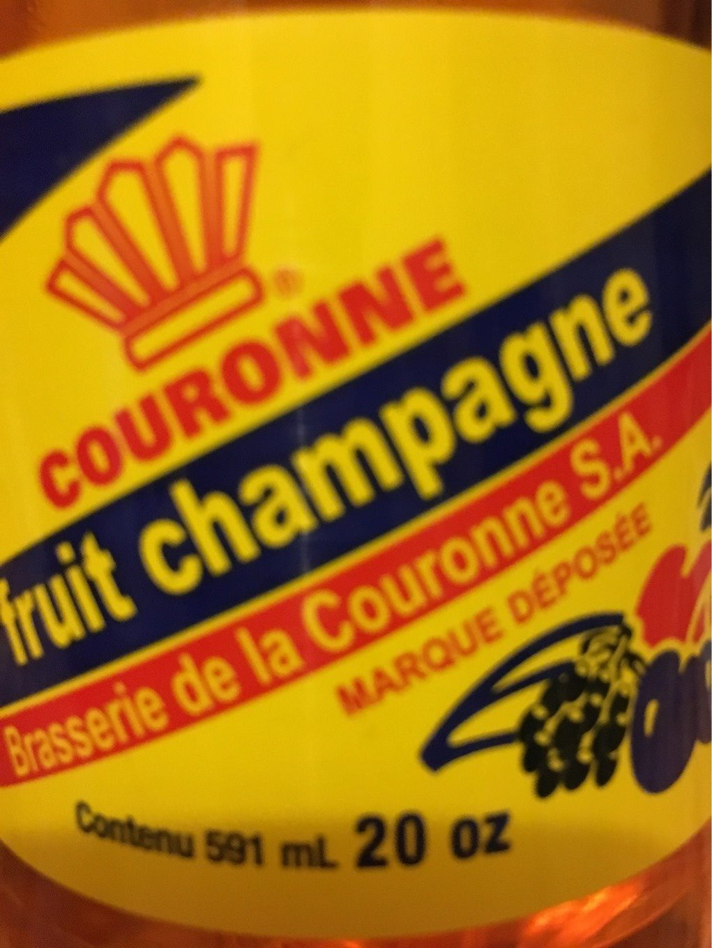 Cola Couronne Fruit Champagne - Product - fr