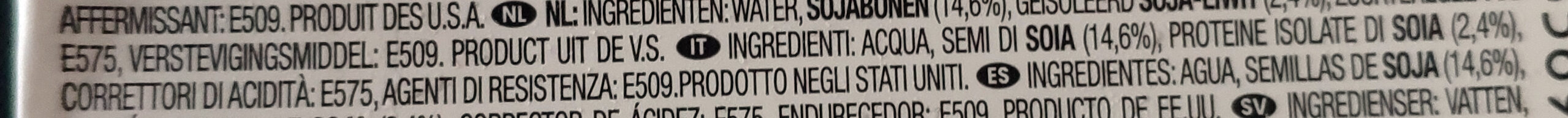Morinu silken tofu firm - Ingredienti - it