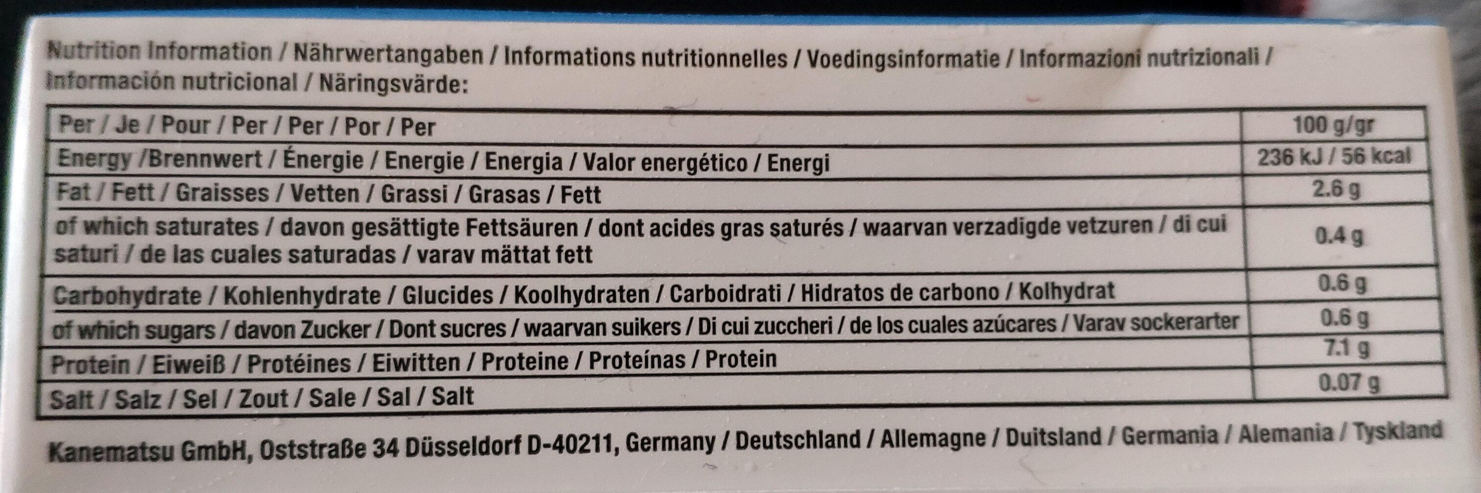 Mori-nu Silken Tofu Firm - Información nutricional - es