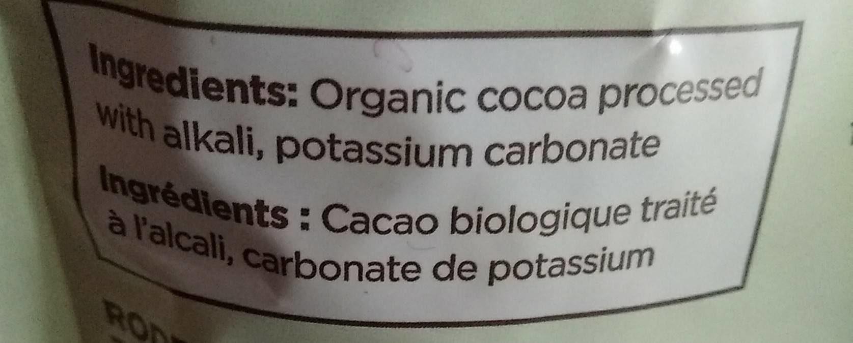 Cacao Biologique - Ingrédients - fr
