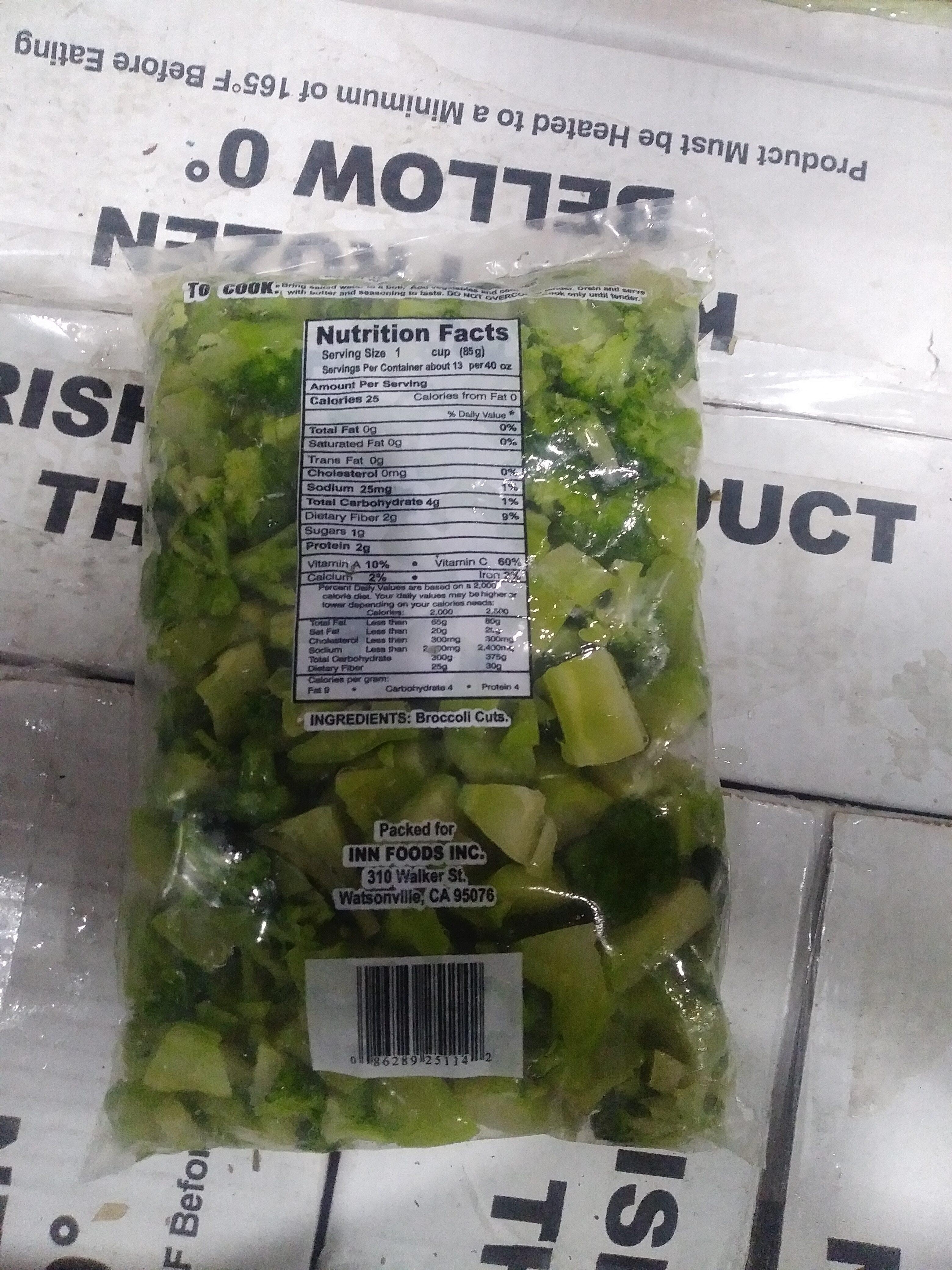 Broccoli Cuts - Nutrition facts - en