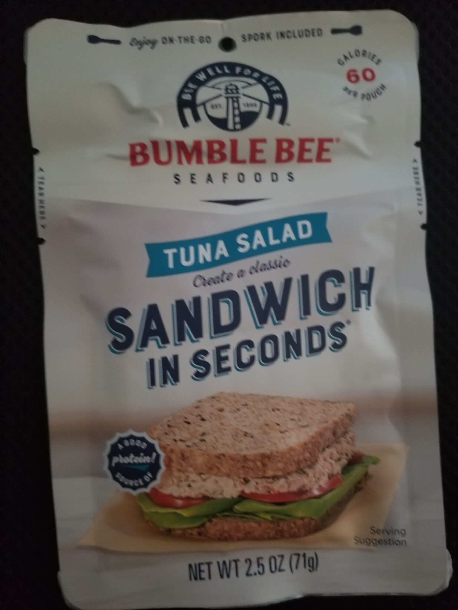Sandwich in seconds tuna salad, tuna - Product - en