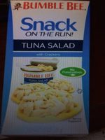 Snack on the run tuna salad with crackers - Product - en