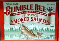Fillets in oil smoked salmon - Produit - en