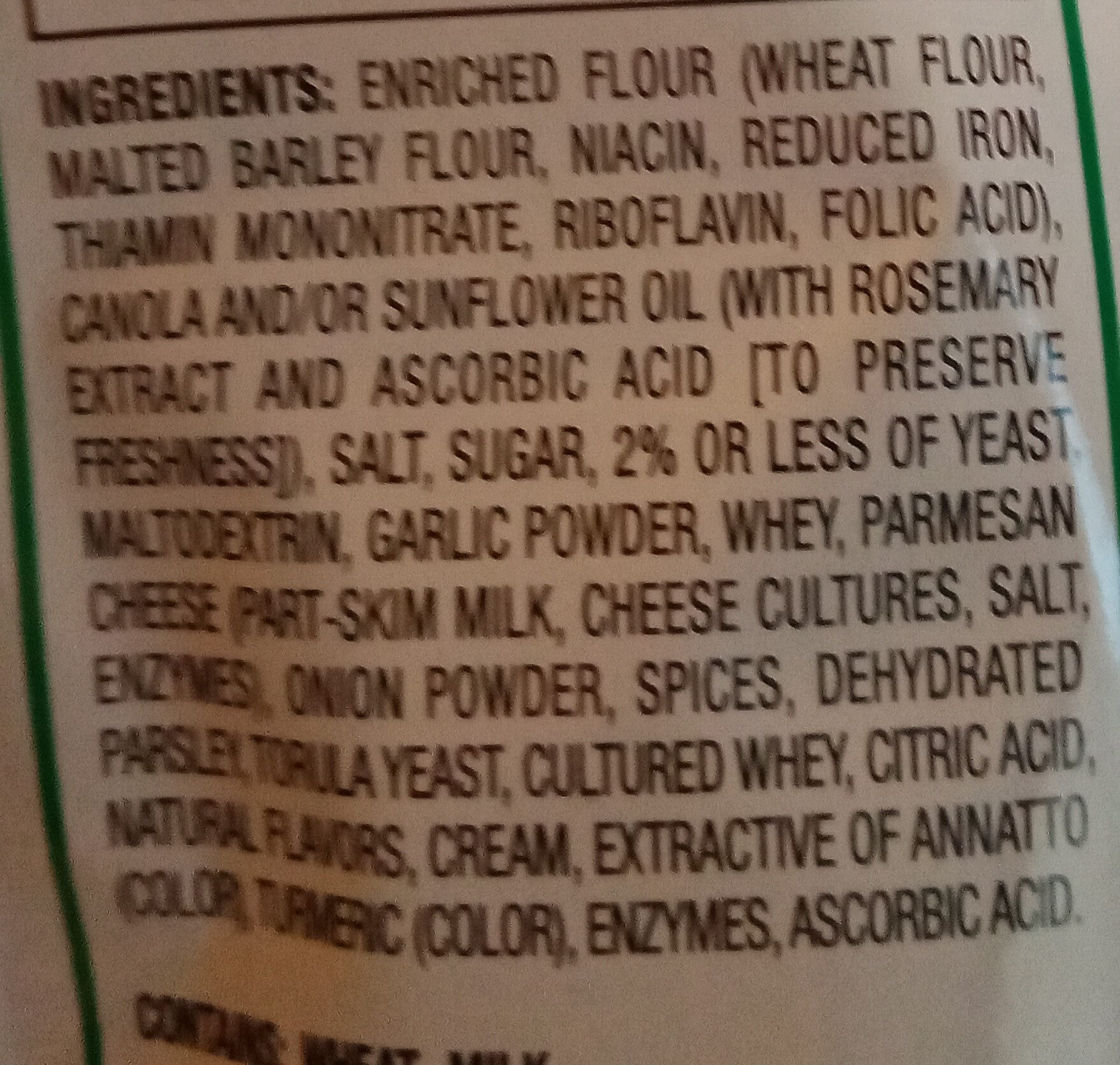 Ceasar Croutons - Ingredients - en