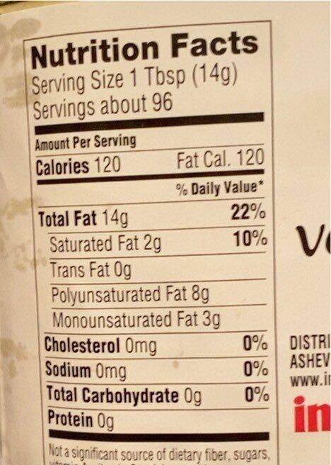 Pure vegetable oil - Voedingswaarden - en