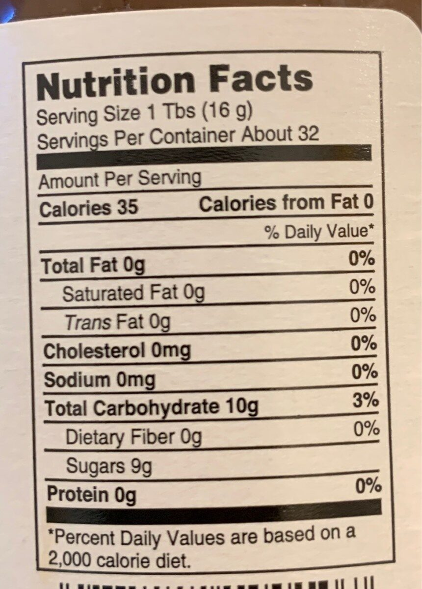 Apple Butter - Nutrition facts
