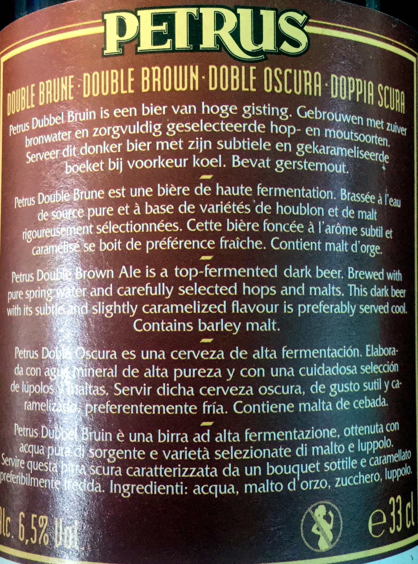 Dubbel bruin - Ingredients - fr