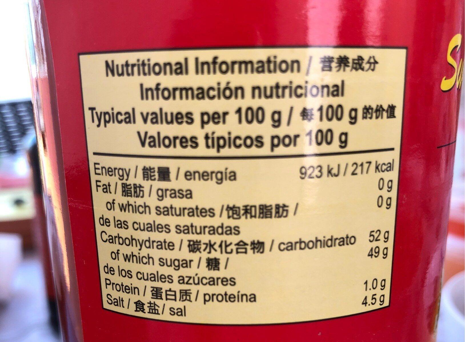 Chilli Omá?.na Kura 740ml - Nutrition facts - fr