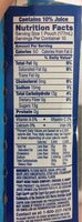 Mixed fruit juice drink - Nutrition facts - en