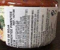 Pate de soja fermentee pimentee - Ingrediënten