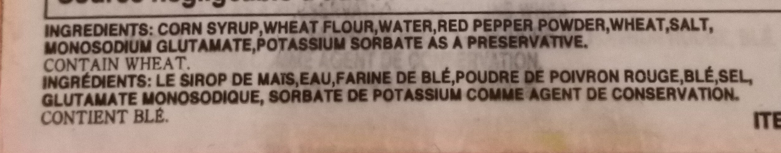 Gochujang - Ingredients - en