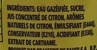 Lemon - Ingrédients