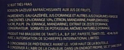 Orangina original - Ingrédients