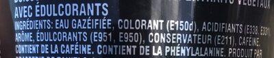 Coca cola zero sucre - Ingredients - fr