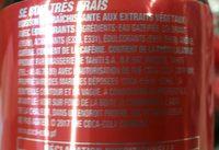 Coca cola sans sucre - Ingrédients