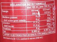 Fetia red - Nutrition facts - fr