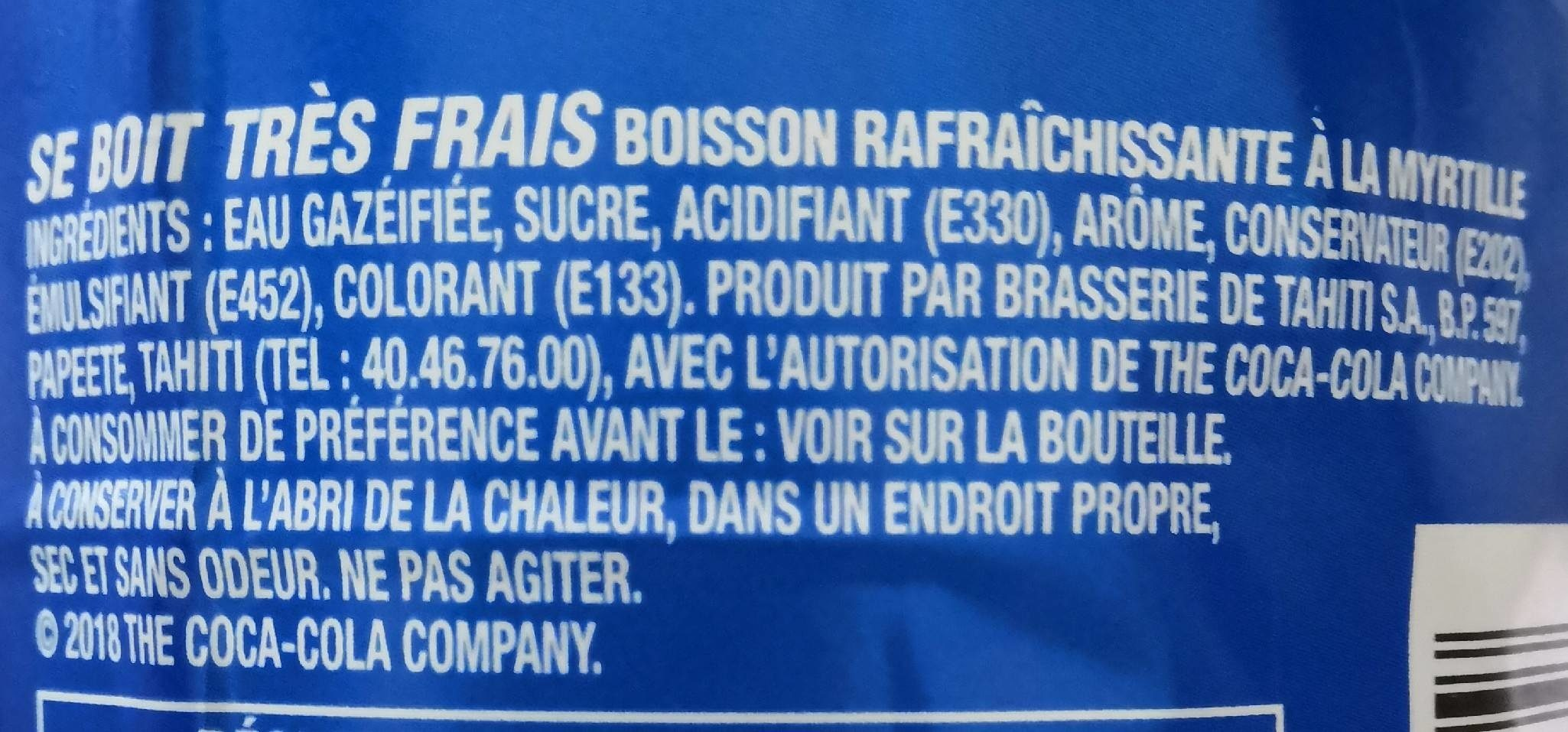 Fetia Blue - Ingredients - fr