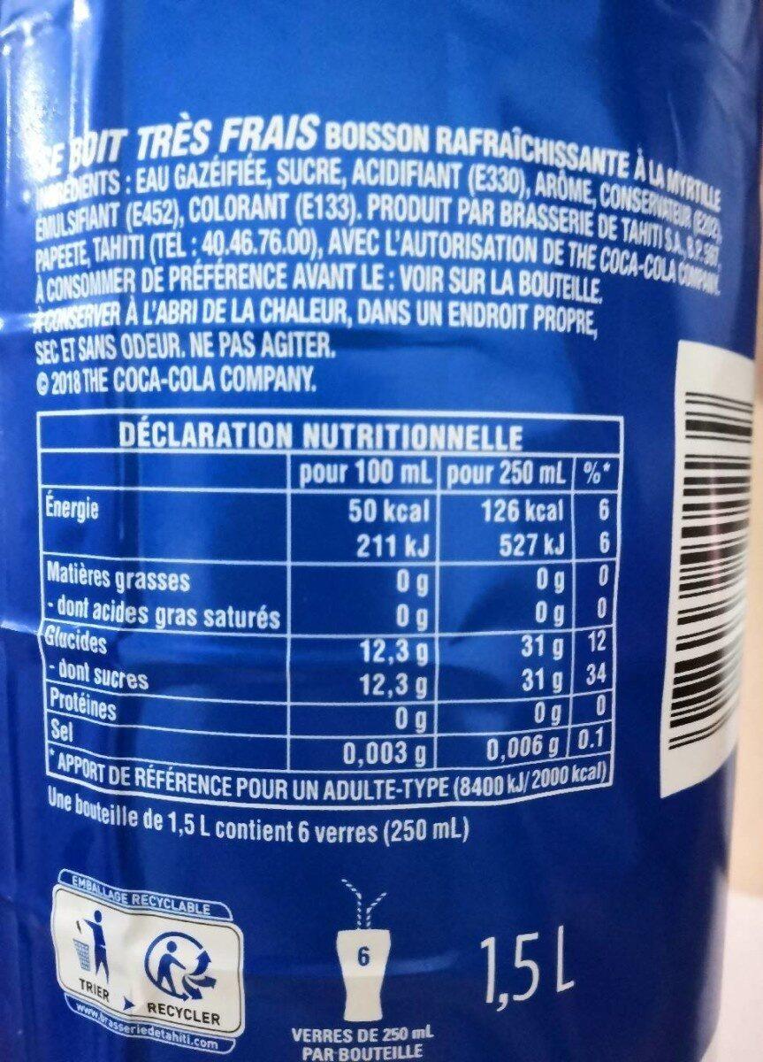 Fetia Blue - Nutrition facts - fr