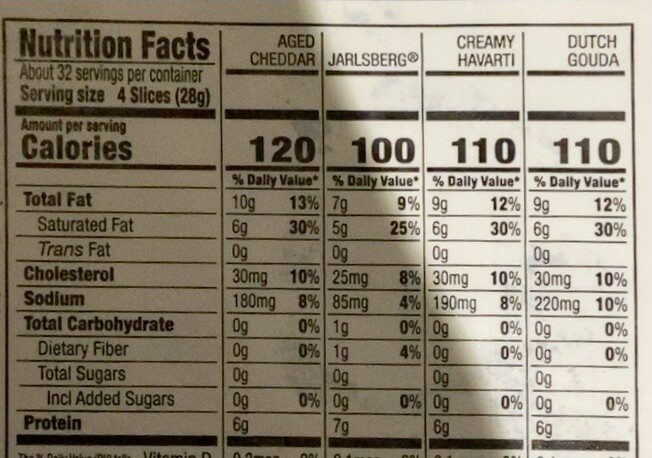 variety pack - Nutrition facts - en