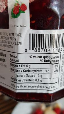 Confiture de framboise - Ingrediënten - fr