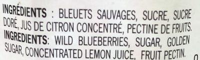 Confiture (bleuets Sauvages) - Ingredients