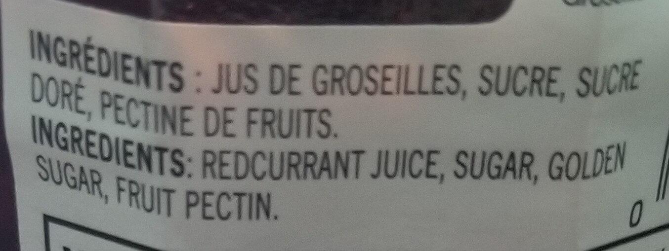 Gelée de groseilles - Ingrédients - fr