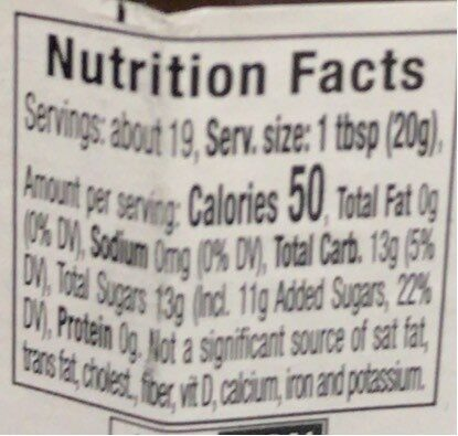 Fig preserve - Nutrition facts - en