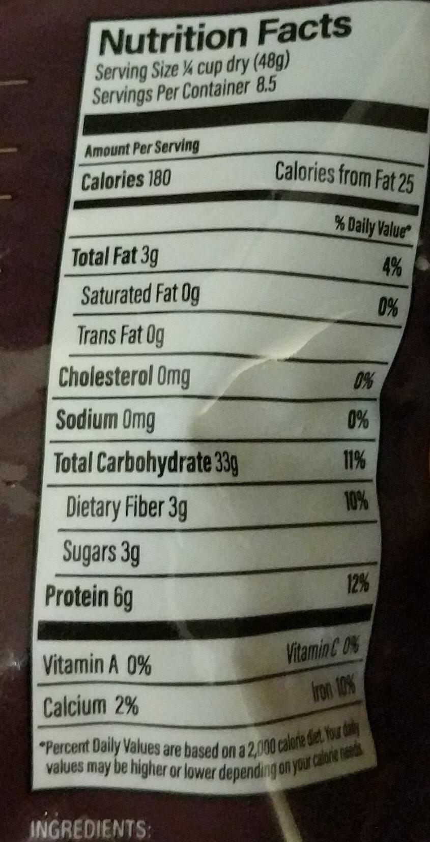 Harmony quinoa - Nutrition facts - en