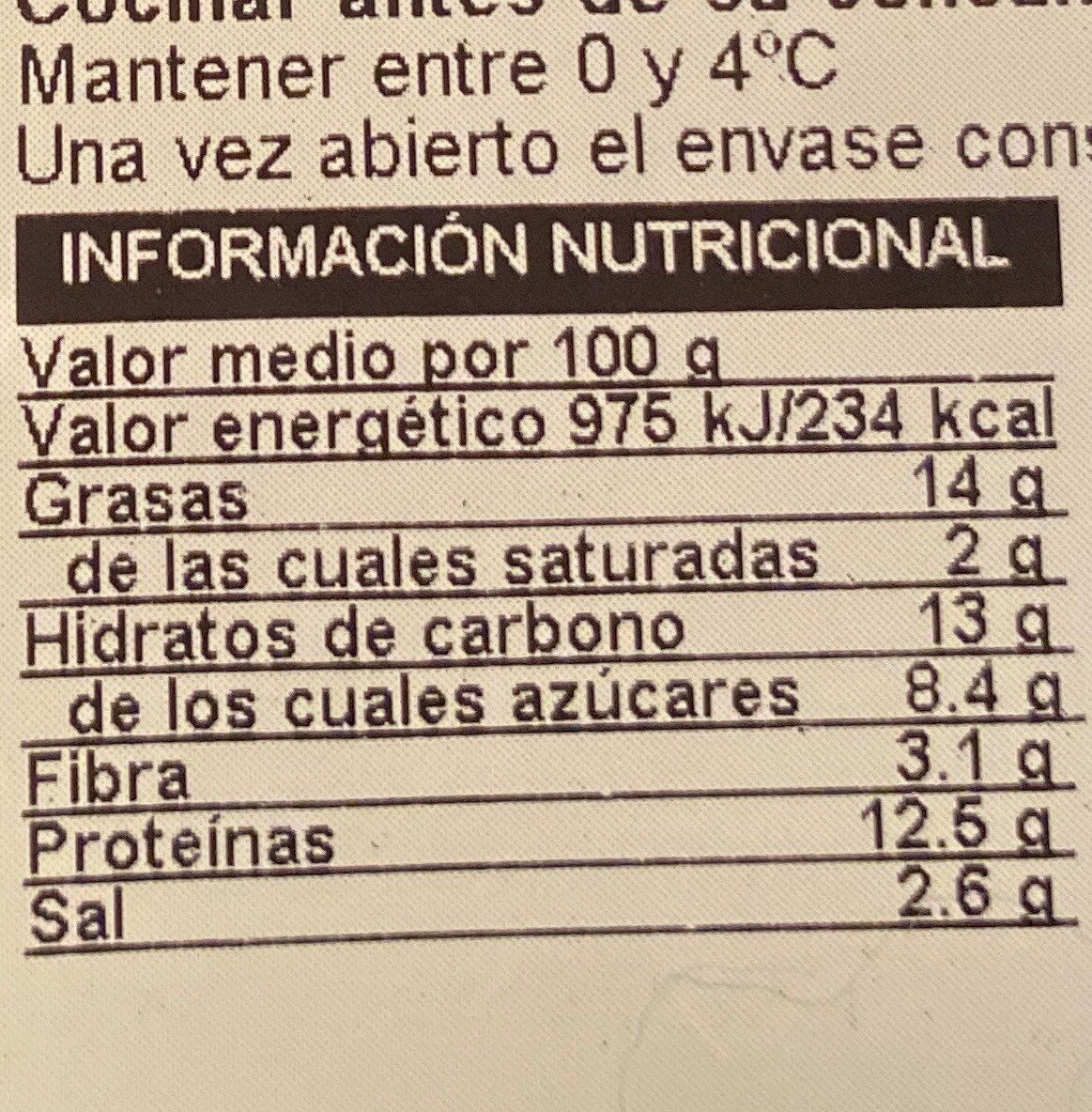 Burger vegetariana - Voedingswaarden - fr