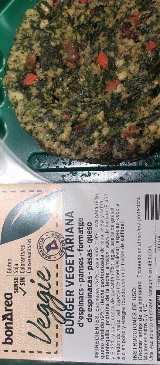 Burger vegetariana Veggie - Prodotto - es