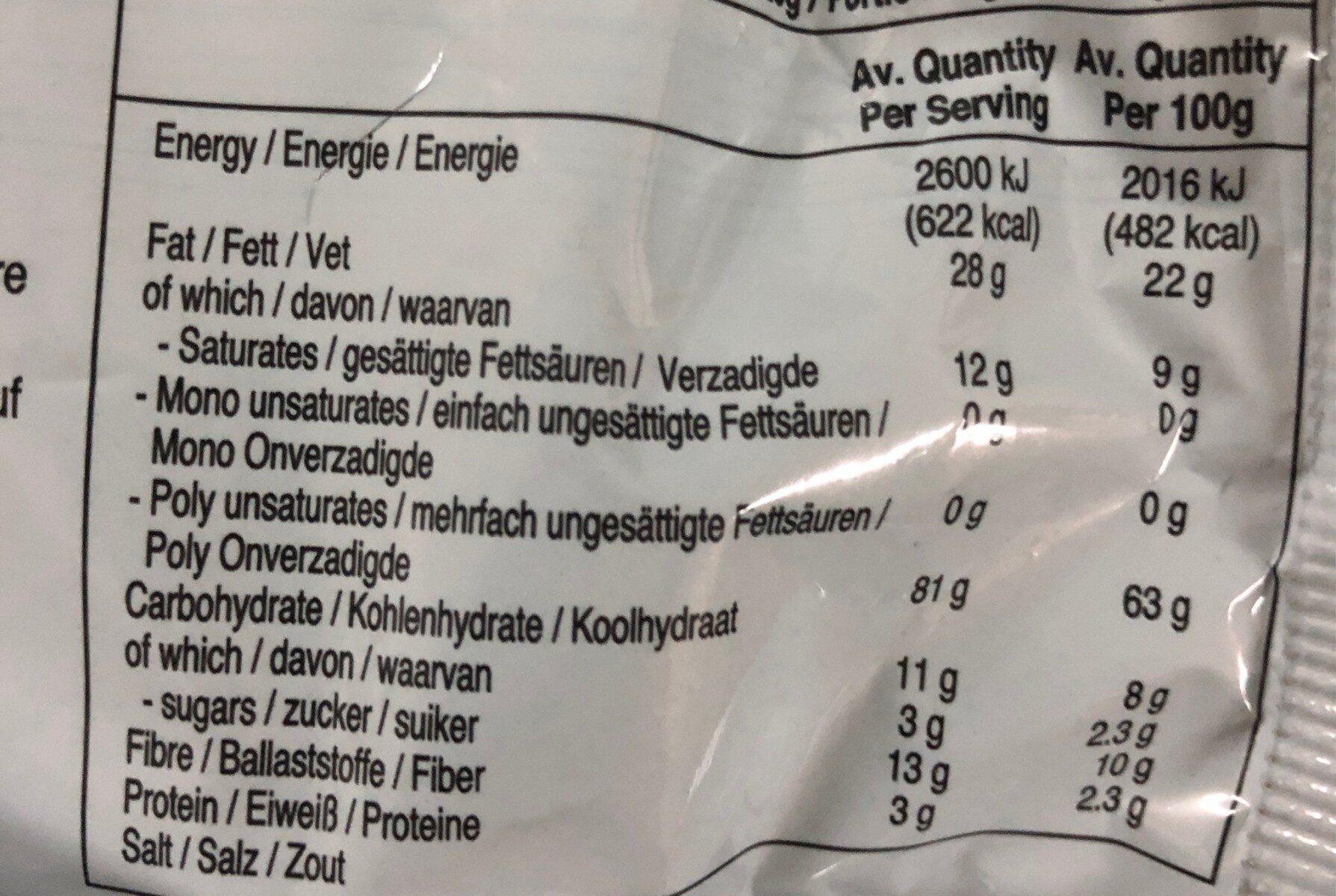 Instant Noodles - Nutrition facts