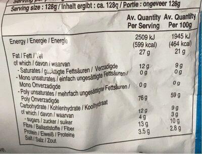 Nouilles Indomie Mie Goreng Jumbo - Nutrition facts - fr