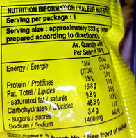 Instant Noodles Chicken Curry - Nutrition facts