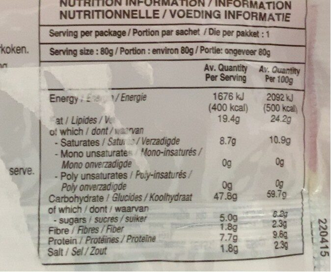 Mie Instant Fried Noodles - Informations nutritionnelles - fr