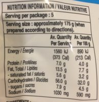 Indo Mie Instant Noodles Mi Goreng bbq Chicken - Nutrition facts - fr