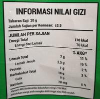 Rasa Rumput Laut (Nori Seaweed Flavour) - tabel nutrisi - en