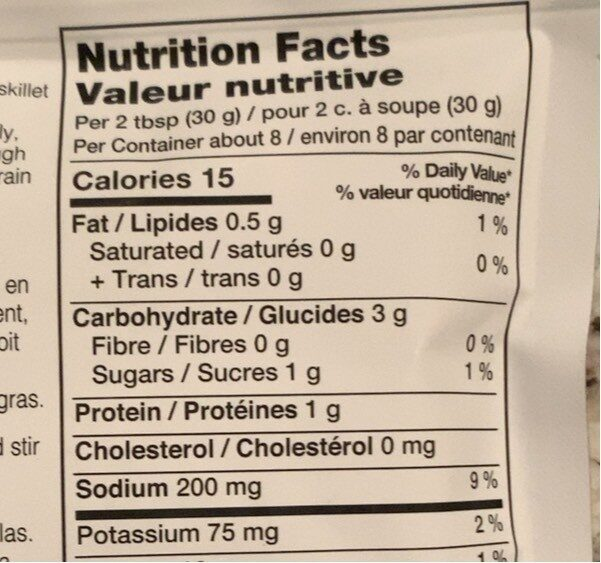 Southwest taco simmer sauce - Nutrition facts - fr