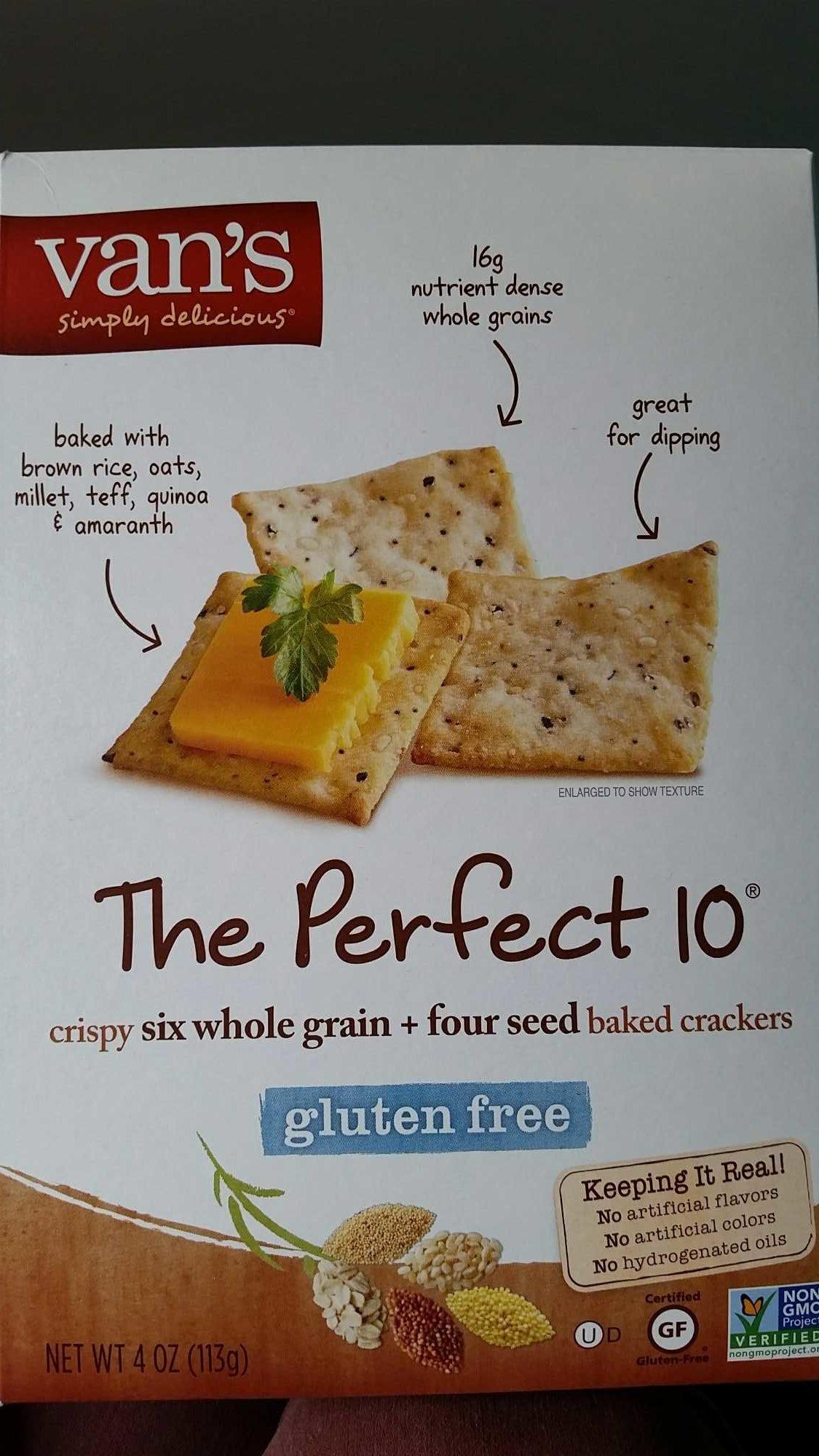 Gluten free crackers - Product - en