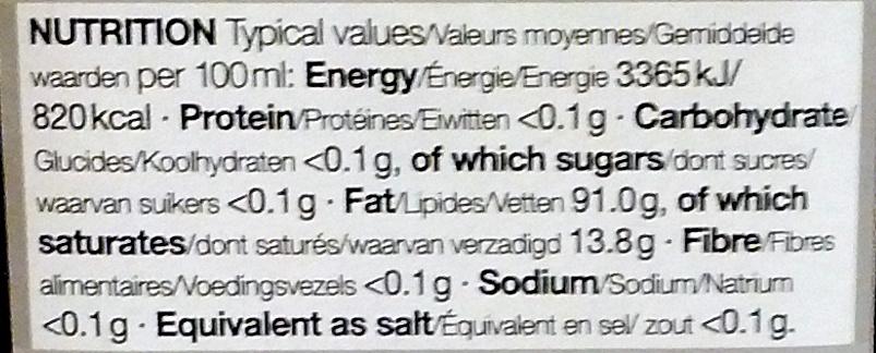 Mediterranean Extra Virgin Olive Oil - Nutrition facts - en