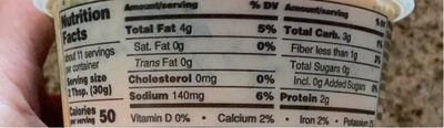Three Layer Hummus - Nutrition facts - en