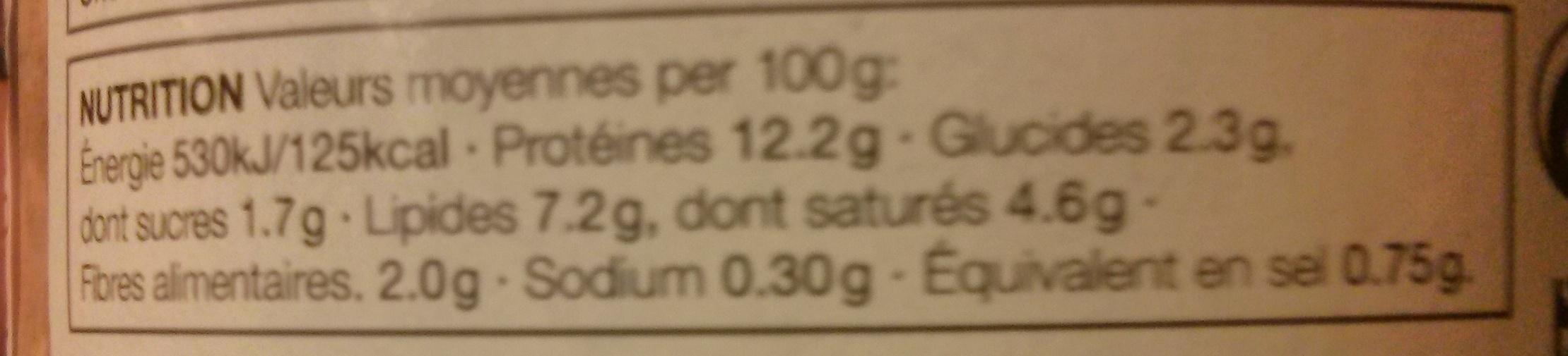 Chicken Laksa - Nutrition facts