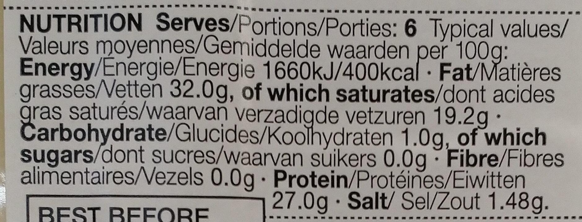 Swiss le gruyère - Voedingswaarden - fr