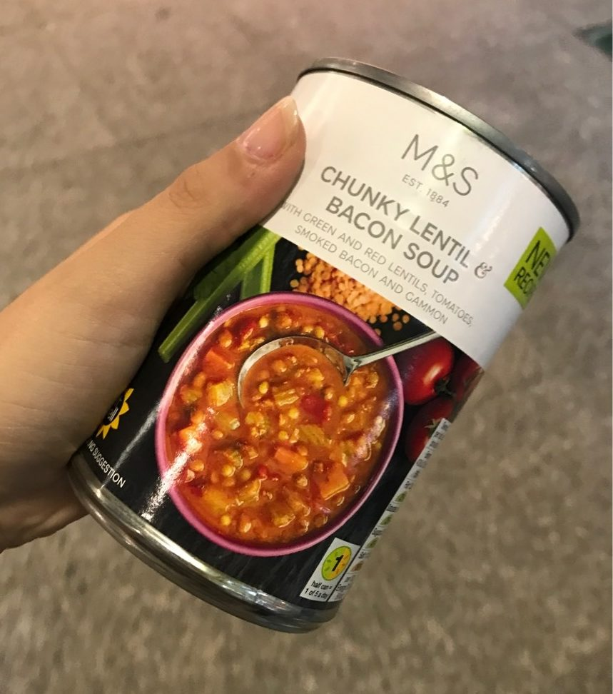 Chunky Lentils & Bacon Soup - Product