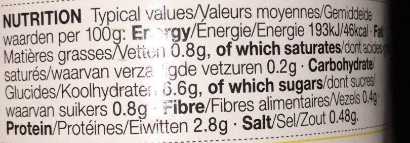 Chicken Noodle - Nutrition facts - fr