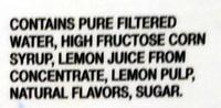 Lemonade - Ingredients - en