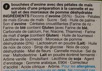 Apple & Cinnamon Crunch - Ingrediënten