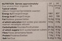Apple & Cinnamon Crunch - Voedingswaarden